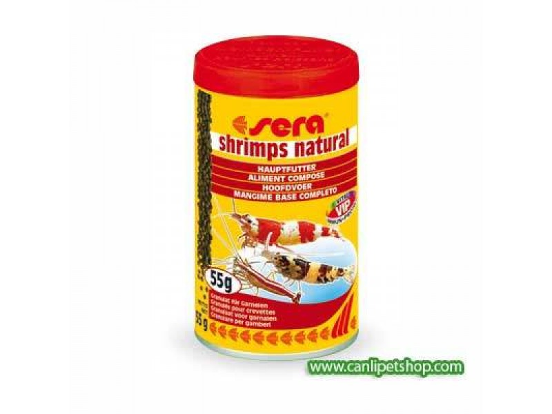 Sera Shrimps Natural 100 ml.(Doğal Karides Yemi)