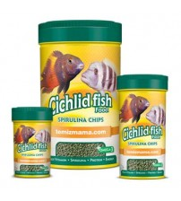Cichlid Fish Food-Spirulina Chips 110 Gr 250 ml