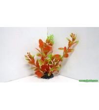 - Kırmızı-Yeşil Gül Plastik Bitki Boy : 15 Cm