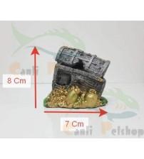 Akvaryum Dekor Mini Hazine Sandığı