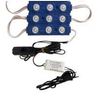 Power Led 4,5 Watt  40-60 Cm Akvaryumlar İçindir 3 Ad Mavi RENK