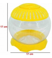 Plastik Ufo Fanus 1 Adet  17 CM Sarı
