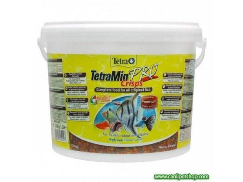 Tetramin Pro Crisps Balık Yemi 10 LT Kova 2000 Gr.