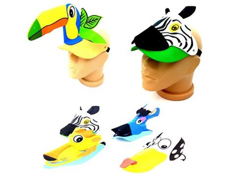 Eva Sünger Hayvan Figürlü Çocuk Parti Şapkası 1 ADET