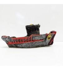 Akvaryum Dekor Balıkçı Kayığı 10x4 Cm