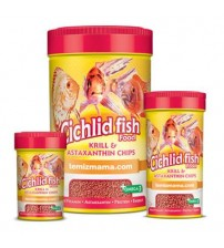 Cichlid Fish Food-Krill & Astaxanthin Chips 110 Gr 250 ml