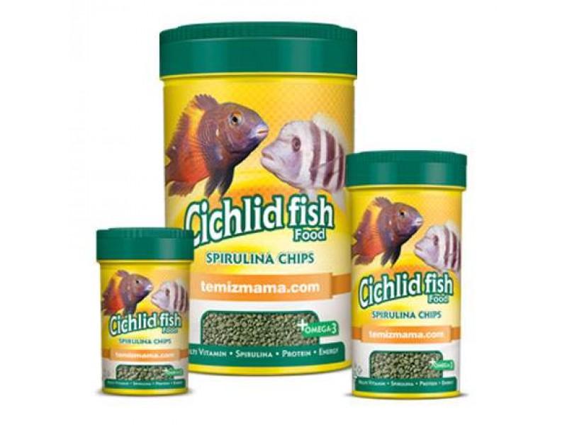 Cichlid Fish Food-Spirulina Chips 110 Gr 250 ml