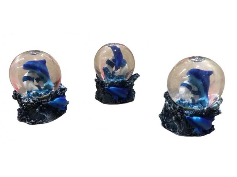 Yunus Balık Temalı Mini Cam Kar Küresi 1 adet
