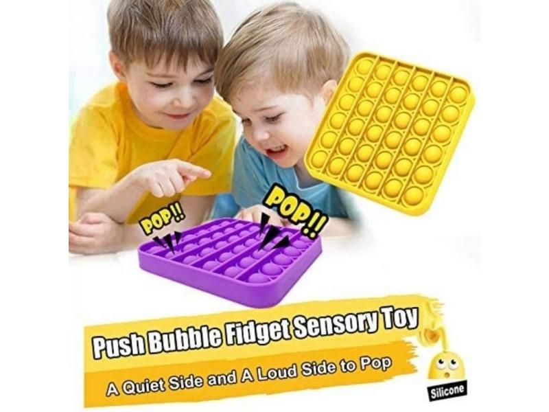 Pop It Push Bubble Fidget Özel Pop Duyusal Oyuncak Zihinsel Stres Kare 1 ADET