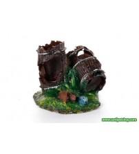 Akvaryum Dekor Fıçı Mini