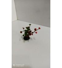 Plastik Bitki 5 cm Verticillata Kırmızı
