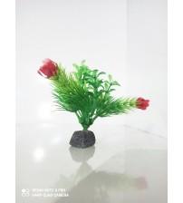 Plastik Bitki 10 cm Çiçek Açmış Tilki Kuyruğu