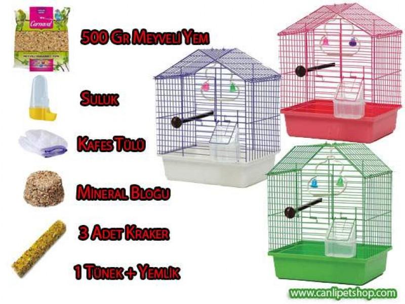 Kuş Kafesi ve Tüm Malzeme Seti ** Kampanya+Ücretsiz Kargo