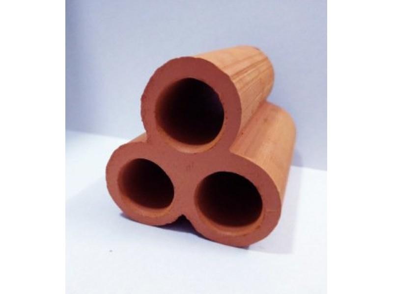 Y-Karides Yuvası ve Üretim Tüpü 3 lü seramik Kahverengi K 6x4 Cm