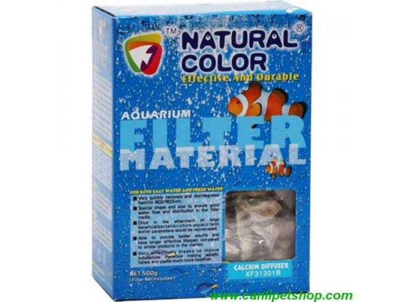 Natural Color CALCİUM DİFFÜSER Nitrat Emici Kalsiyum Kabukları Filtre Malzemesi 500 Gram (4318)
