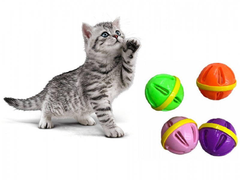 Kedi Oyun Topu Çıngıraklı 8 Cm Çap 8 Cm