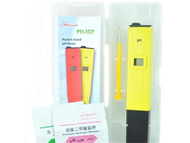 PH Metre PH Ölçer Su Sıvı Akvaryum Kalibrasyon SIVISI Hediyeli Ph Tester ph-107