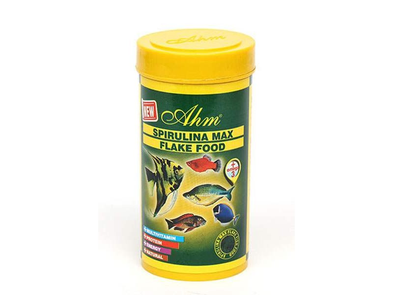 Ahm Spirulina %35 Flake Food 250 ml